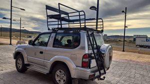 BACAZA - Puesto de caza móvil y baca para coche 3